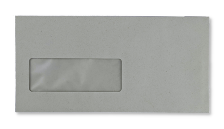 Vensterenvelop C5/6 11,4 x 22,9 cm Grijs