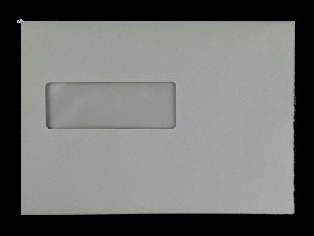 Vensterenvelop C5 16,2 x 22,9 cm Grijs per doos