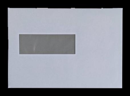Vensterenvelop EA5 15,6 x 22 cm Wit per pallet